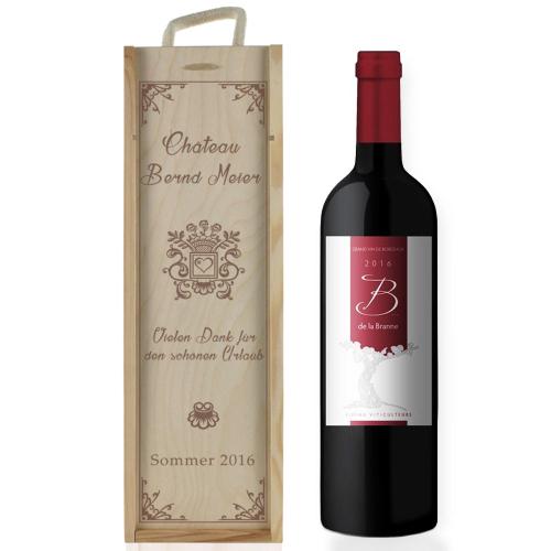 Weinkiste Tradition mit Gravur Zoom