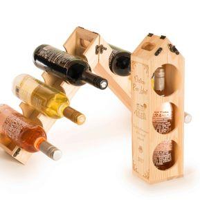 Weinkiste und Flaschenhalter 2 in einem Personalisiert