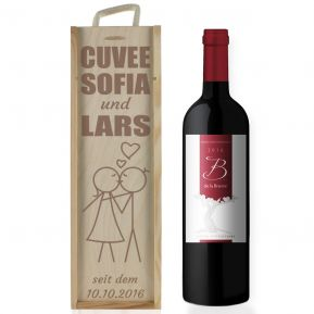 Weinkiste Valentinstag mit Gravur