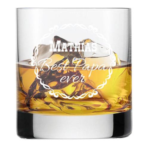 Whiskyglas mit Gravur für Papa Best