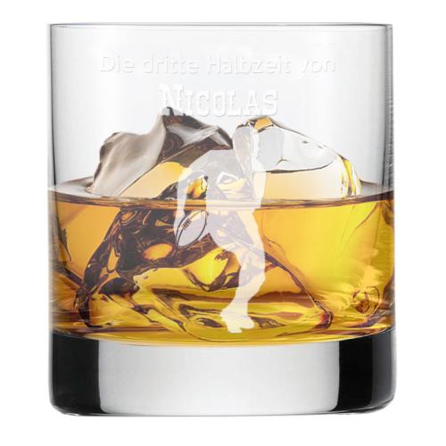 Whiskyglas mit Gravur für Sportler Rugby