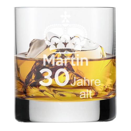 Whiskyglas mit Gravur zum Geburtstag 1