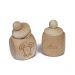 Zahndose aus Holz mit Gravur