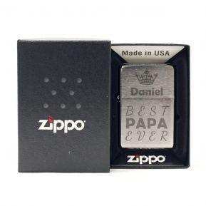 Graviertes Zippo® Feuerzeug zum Vatertag