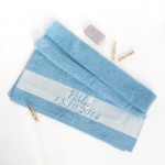 Handtuch hellblau Taufe