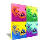 Bild Pop art Quadrat mit vier Fotos