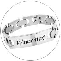 Personalisierte Armbänder - Edelstahl, Kautschuk