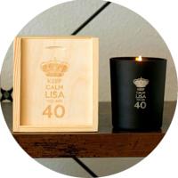 Personalisierte Kerzen mit Gravur