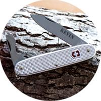 Personalisierte Taschenmesser mit Gravur