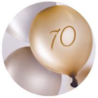 Personalisierte Geschenkideen zum 70. Geburtstag
