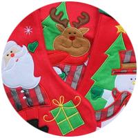 Personalisierte Weihnachtsmützen und Nikolausstiefel