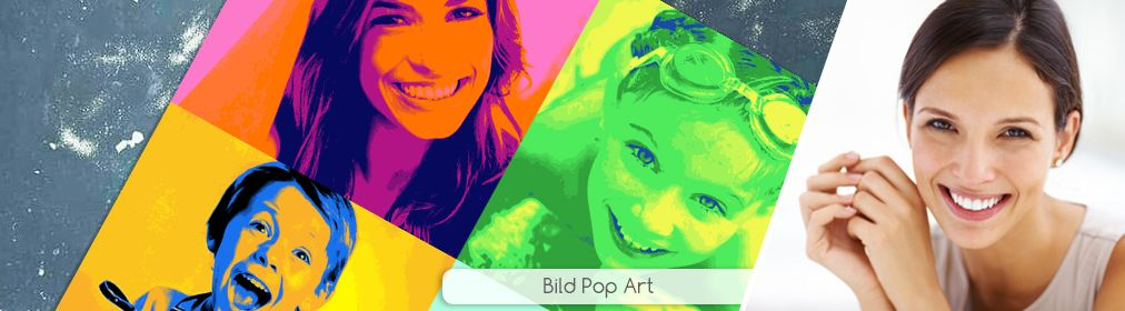 Bild Pop Art Quadrat - vier Fotosab