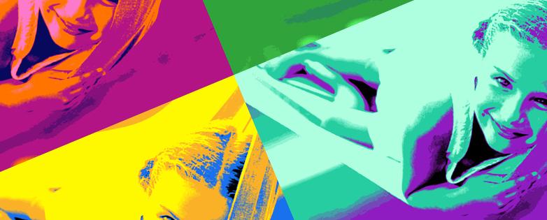 Bild Pop Art quadrat 4 Fotos
