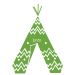 Wandsticker Tipi mit Name