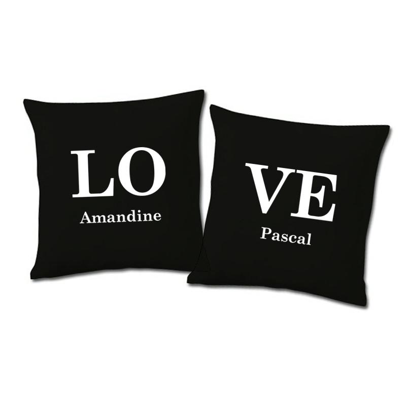 2er set kissen love mit namen ein pers nliches geschenk als unikat geschenkegarten. Black Bedroom Furniture Sets. Home Design Ideas