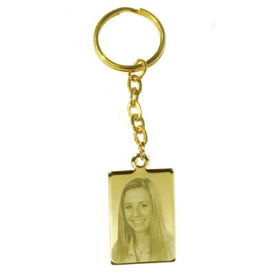 Schlüsselanhänger mit Fotogravur - 9340