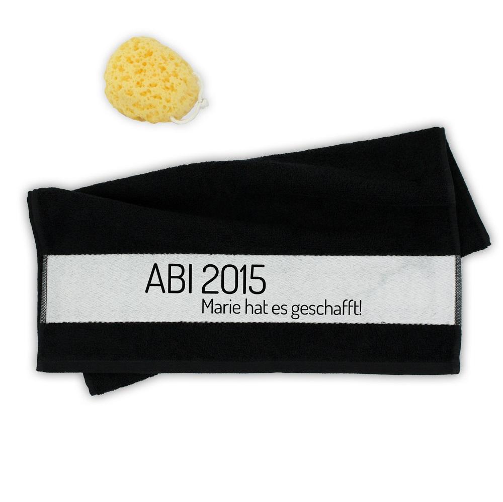 personalisiertes handtuch zum abi ein pers nliches geschenk als unikat geschenkegarten. Black Bedroom Furniture Sets. Home Design Ideas