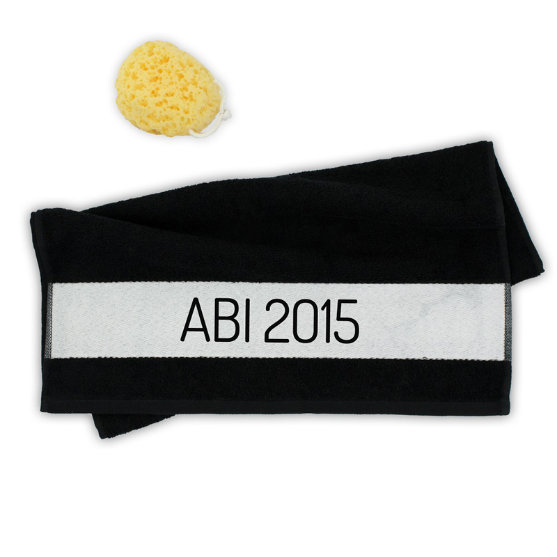 handtuch abi 2015 ein pers nliches geschenk als unikat geschenkegarten. Black Bedroom Furniture Sets. Home Design Ideas