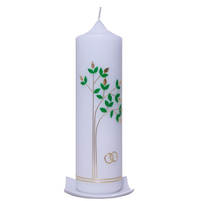 Hochzeitskerze lebensbaum modern ein pers nliches for Osterkerzen modern