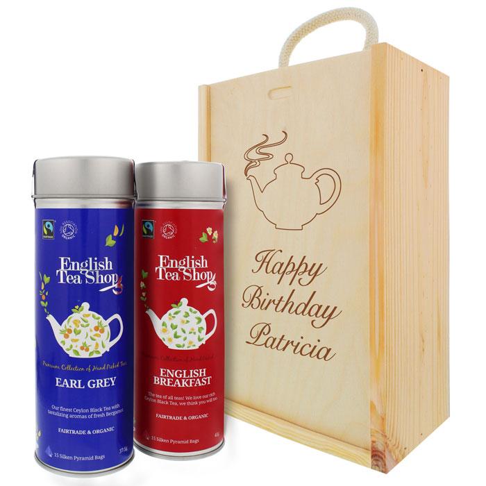 Premium Bio Tee Geschenk Set Mit Gravur