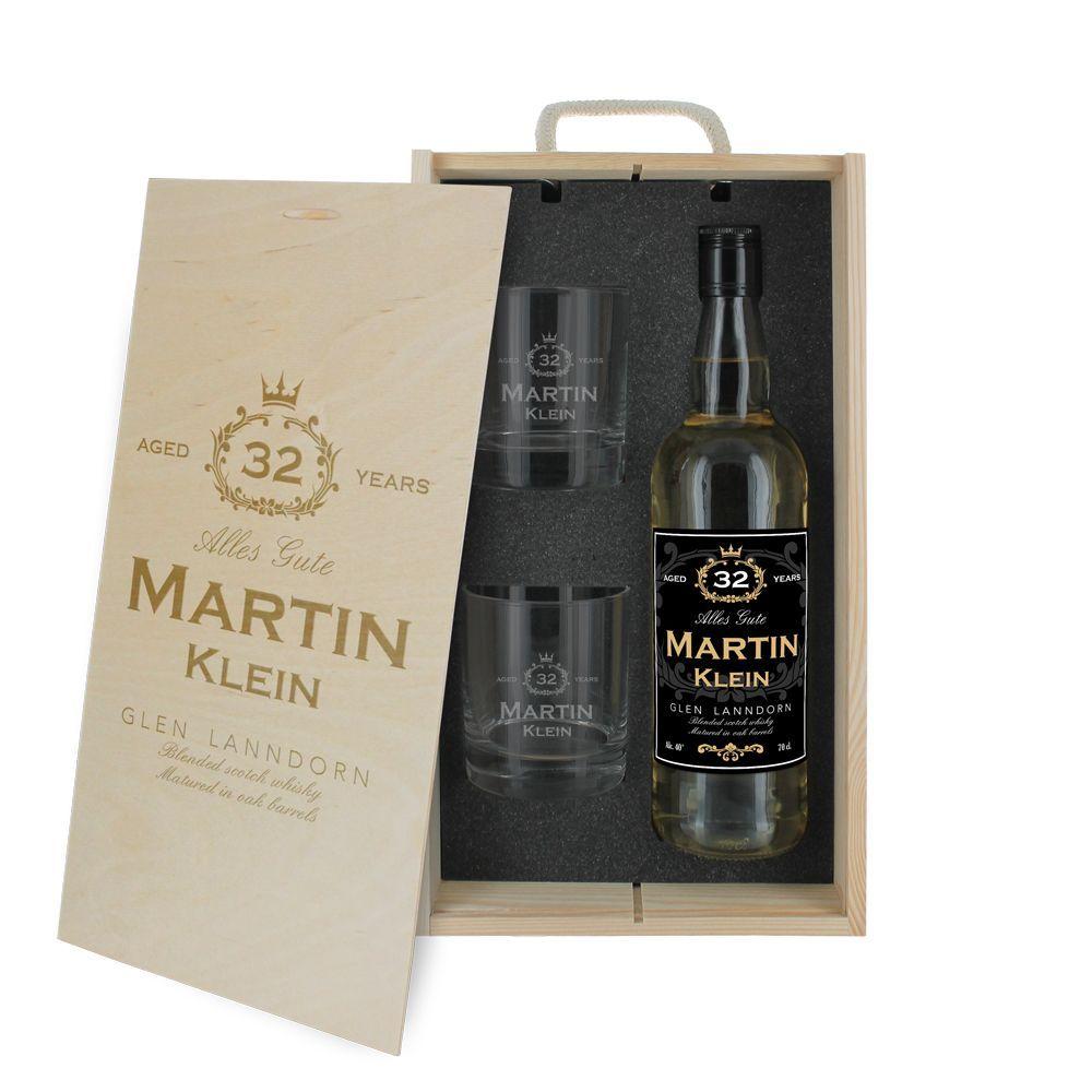3-teilige Whisky-Box Geburtstag