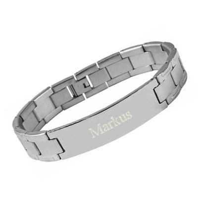 Armband Edelstahl mit Gravur - 8418