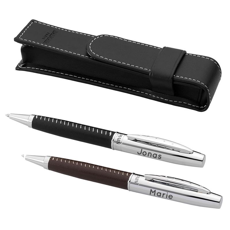 balmain kugelschreiber leder mit gravur ein pers nliches geschenk als unikat geschenkegarten. Black Bedroom Furniture Sets. Home Design Ideas