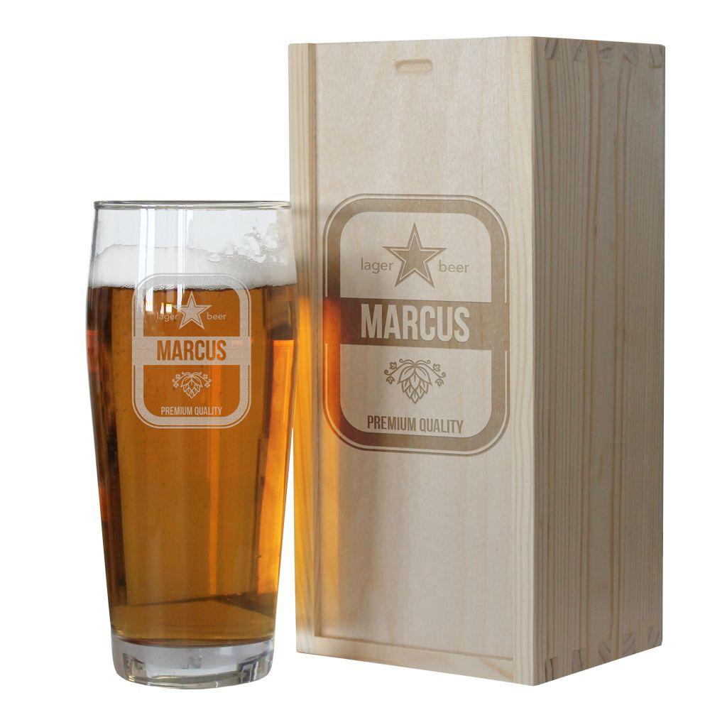 Graviertes Bierglas mit Namen