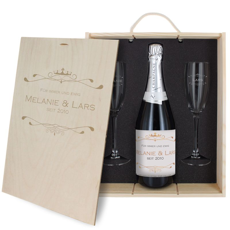 3-teiliges Champagner-Set Luxury