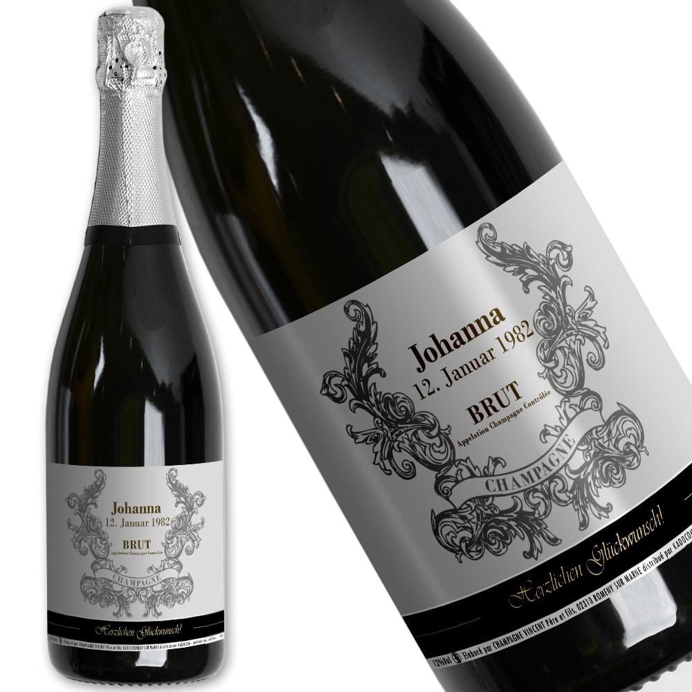 Personalisierte Champagner-Flasche Vorname