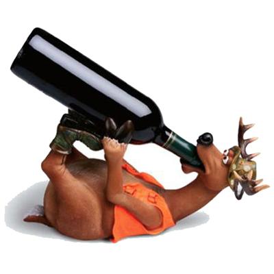 Tierischer Weinflaschenhalter