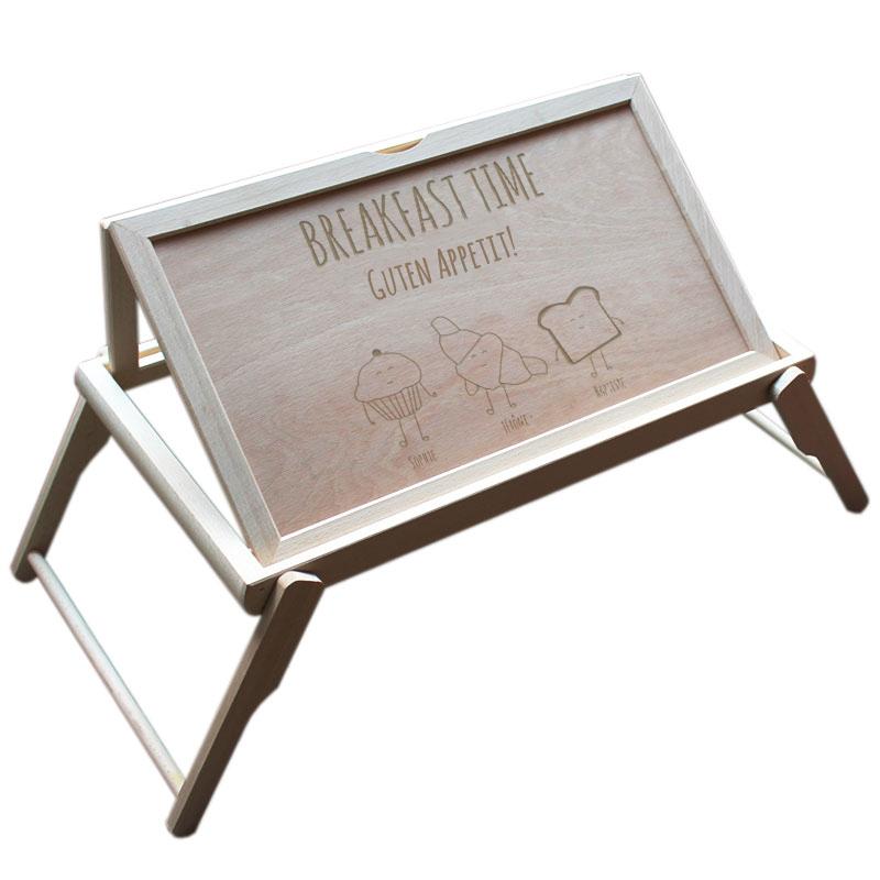 fr hst ckstablett f rs bett mit gravur ein pers nliches. Black Bedroom Furniture Sets. Home Design Ideas