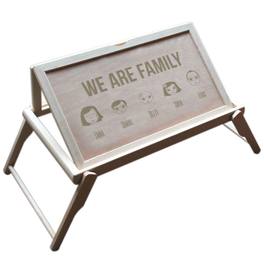 Frühstückstablett Fürs Bett We Are Family Ein Persönliches Geschenk