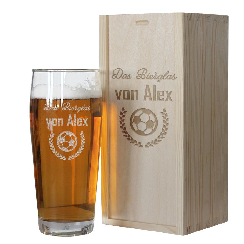 Bierglas für Sportler mit Gravur, ein persönliches Geschenk als ...