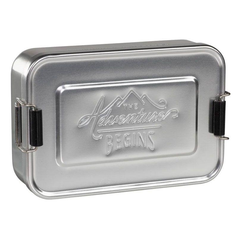 Silberfarbene Lunchbox Gentlemen's Hardware