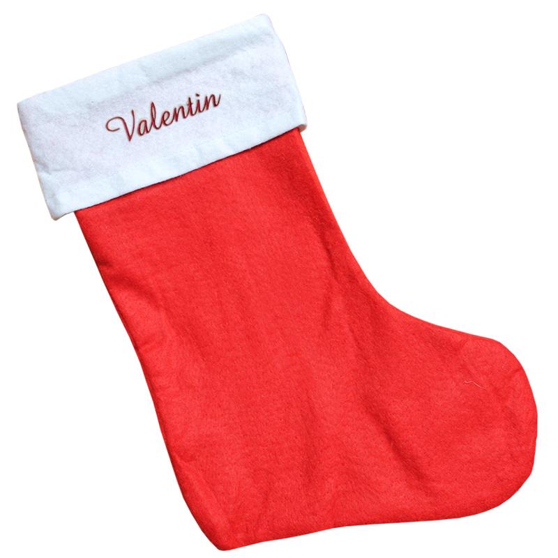 Personalisierbare Weihnachtssocke, ein persönliches Geschenk als ...