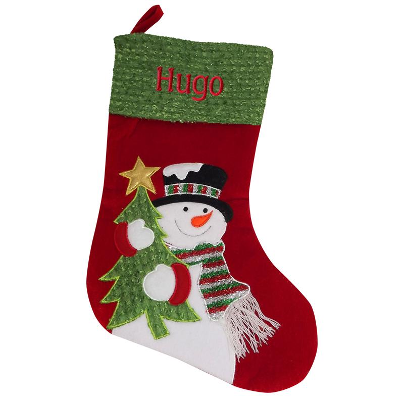 Personalisierte Weihnachtssocke Schneemann, ein persönliches ...