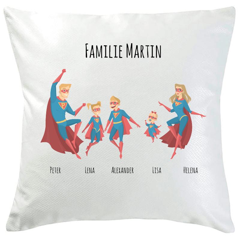 Personalisiertes Kissen Superhelden