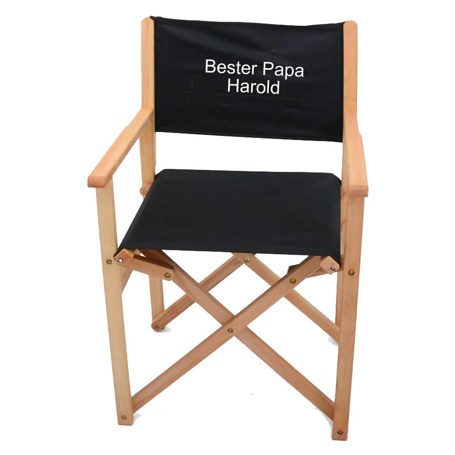 regiestuhl deluxe mit stickerei ein pers nliches geschenk als unikat geschenkegarten. Black Bedroom Furniture Sets. Home Design Ideas