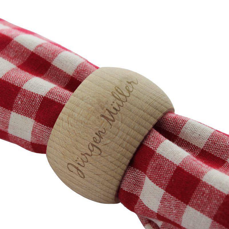 Serviettenring aus Holz mit Name