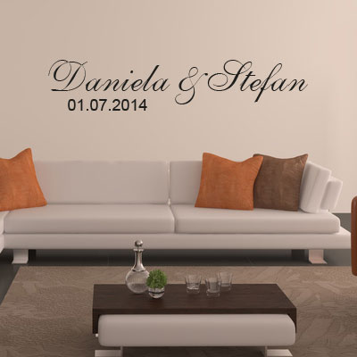 wandtattoo mit namen und datum 9228 germany. Black Bedroom Furniture Sets. Home Design Ideas