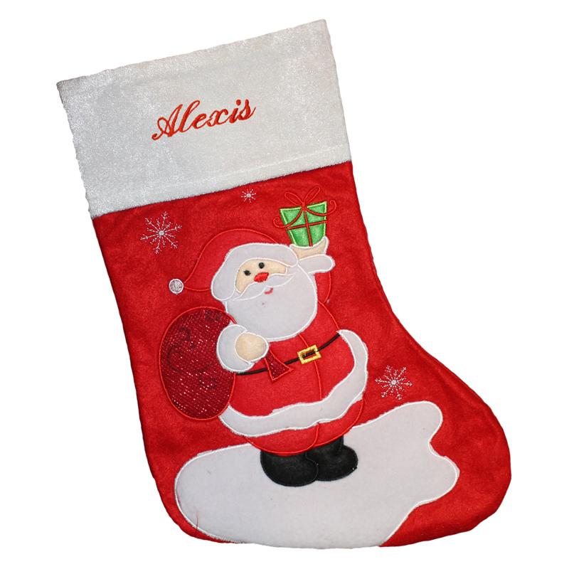 Weihnachtssocke aus Filz mit Stickerei, ein persönliches Geschenk ...