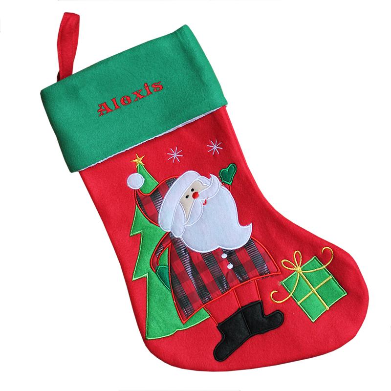 Weihnachtsstiefel mit Stickerei, ein persönliches Geschenk als ...