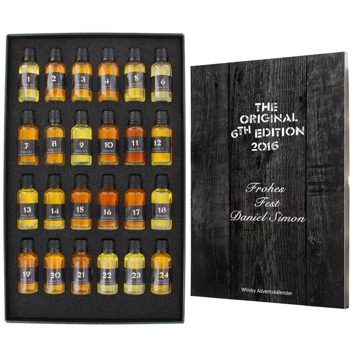 Whisky-World Adventskalender mit Gravur, ein persönliches Geschenk ...