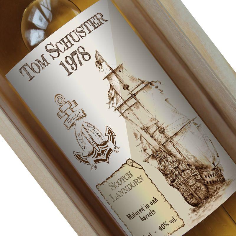 Personalisierte Whisky-Flasche Old Navy
