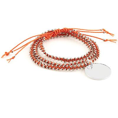 Wickelarmband orange mit Gravur - 8477